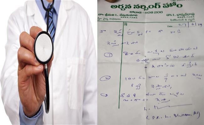 Doctor Medical Prescription Viral in Social Media - Sakshi