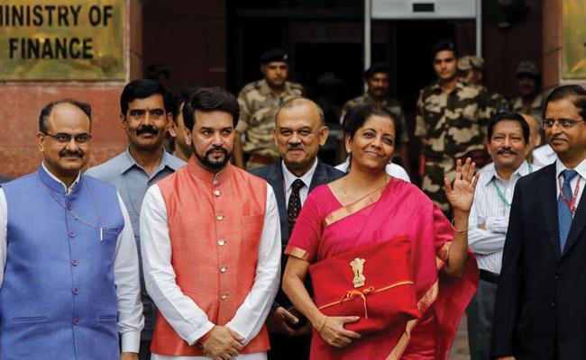 Nirmala Sitharaman Produce First Budget In Lok Sabha - Sakshi