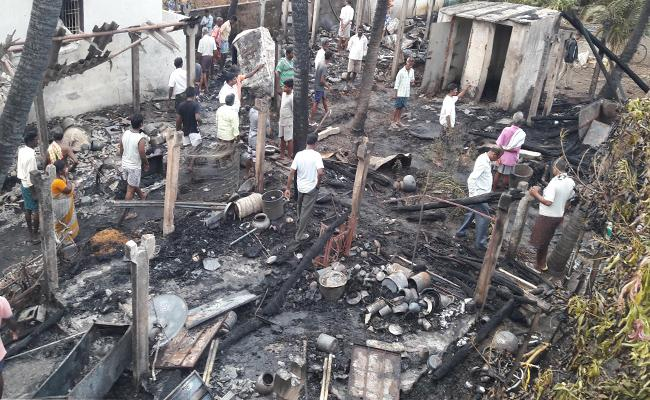 Fire Accident In West Godavari - Sakshi