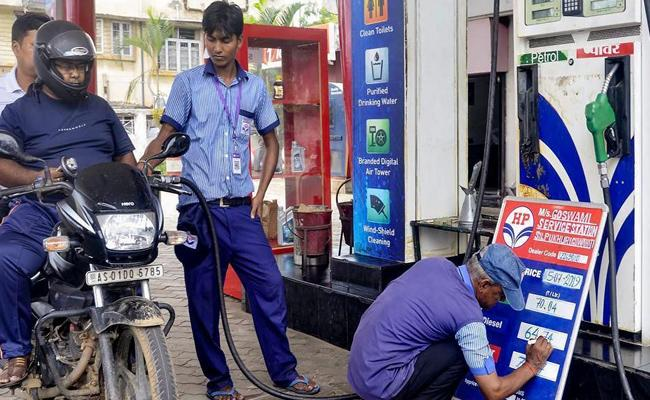 Petrol And Diesel Prices Are Increased In Hyderabad - Sakshi