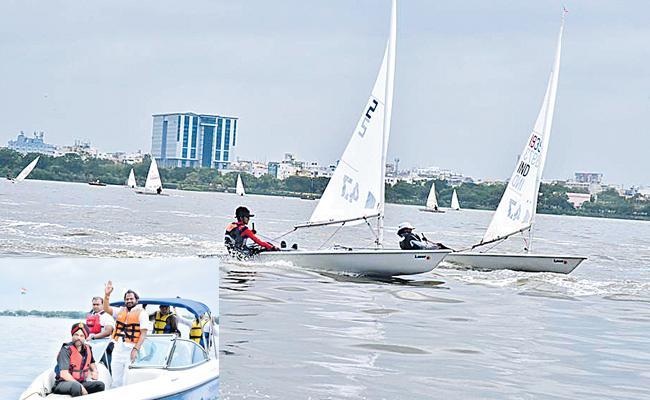 Srinu Leads in Laser Radial Sailing - Sakshi