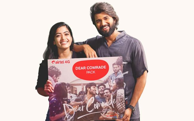 Airtel and Dear Comrade Movie Deal Special Recharge Packs - Sakshi
