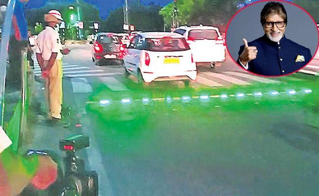 Amitabh Bachchan Prices Hyderabad Traffic Police Idea - Sakshi