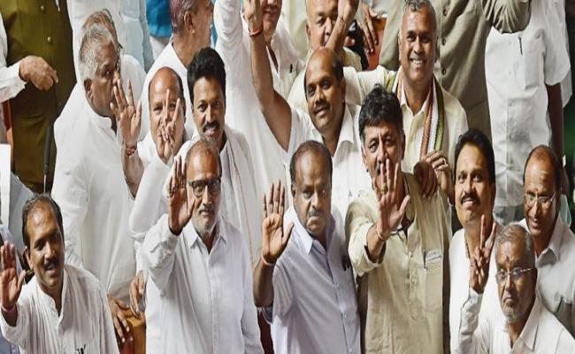 All Congress ministers quit, submit resignation to CM - Sakshi