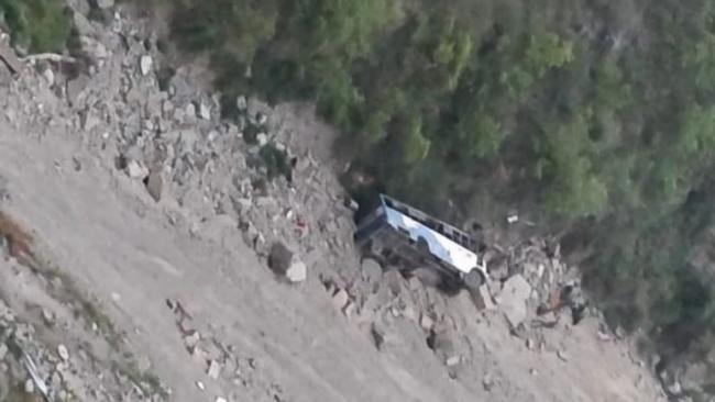 Uttarakhand Bus Falls Into Deep Gorge - Sakshi