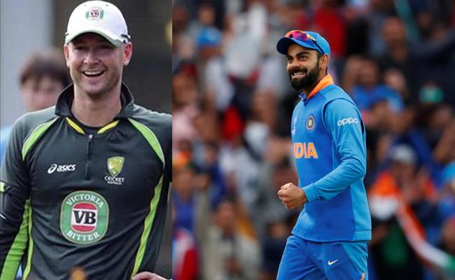 Michael Clarke Says India Already Have One Foot in World Cup Final - Sakshi