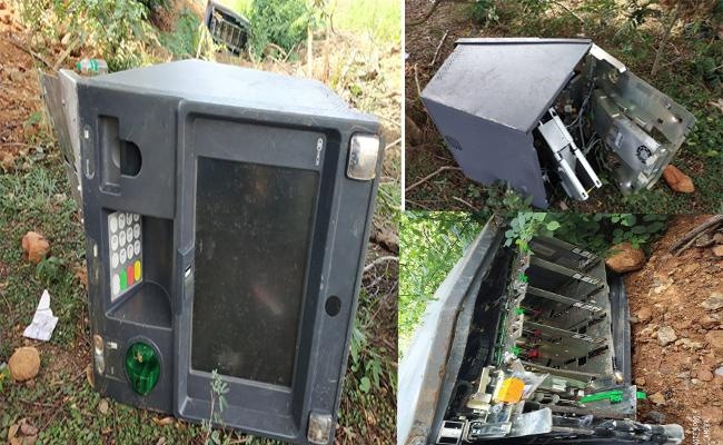ATM Machine Found In Crop Farms In Kasibugga Palasa Highway - Sakshi