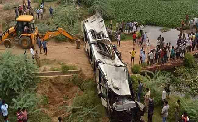 Survivor Of Bus Tragedy Says Some Climbed On Bodies To Get Out Of Bus - Sakshi
