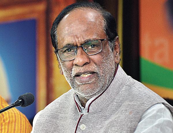 BJP Leader Laxman Comments On Gandhi Bhavan - Sakshi