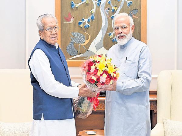 AP Governor Harichandan meets PM Modi - Sakshi