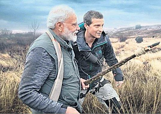 PM Modi to appear on Man vs Wild - Sakshi