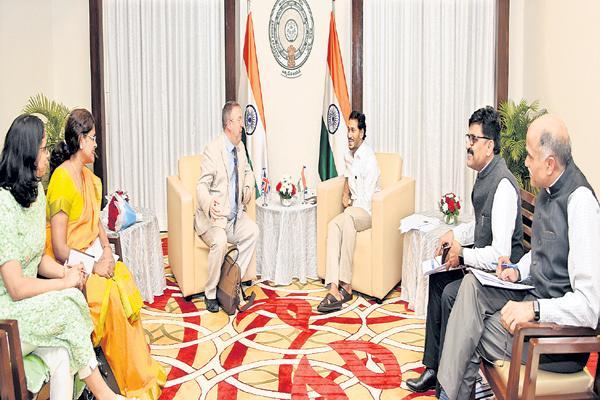 CM YS Jagan Meeting with representatives of 15 countries - Sakshi