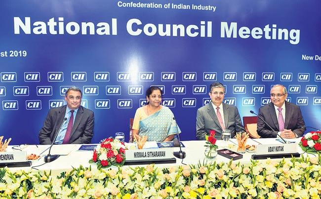 Nirmala Sitharaman attends CII National Council Meeting - Sakshi