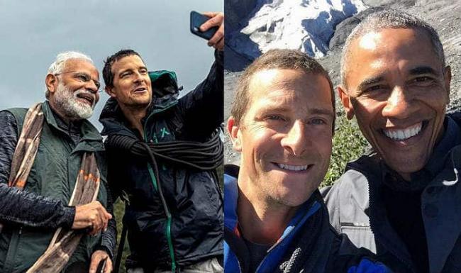 Narendra Modi And Barack Obama Have Similarities, Reveals Bear Grylls - Sakshi