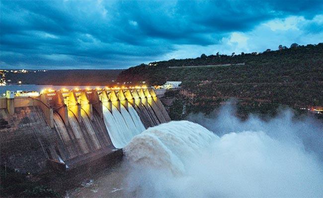 AP Irrigation Minister Anil Kumar Yadav Lift Srisailam Dam Gates - Sakshi