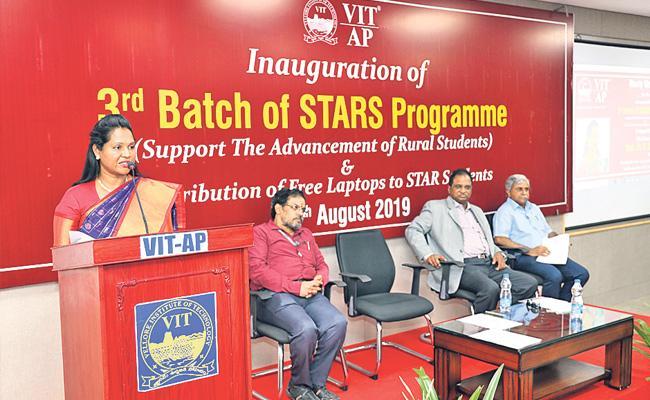 Stars Third  Batch Began VIT AP Varsity   - Sakshi