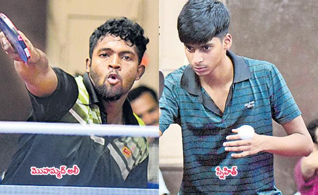 Snehit And Ali Enters Quarter Final of Table Tennis - Sakshi