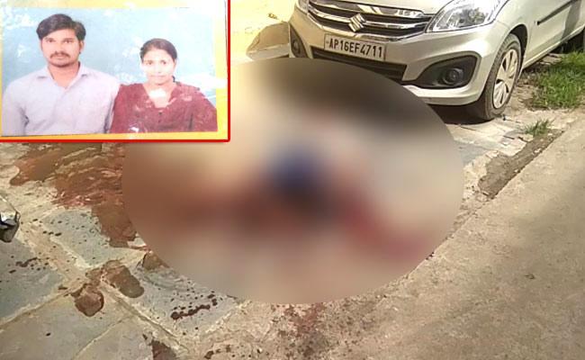 Man Murders Wife Brutally In Vijayawada - Sakshi