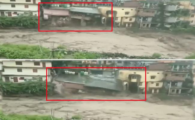Building Collapses Due To Floods In Uttarakhand 6 Dead - Sakshi