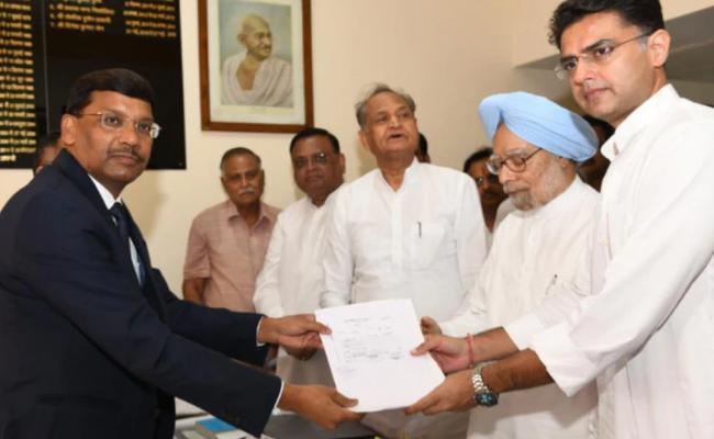 Manmohan Singh Files Rajya Sabha Nomination From Rajasthan - Sakshi