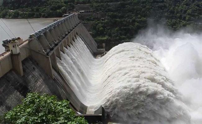 Water Levels In Srisailam And Nagarjuna Sagar Projects  - Sakshi