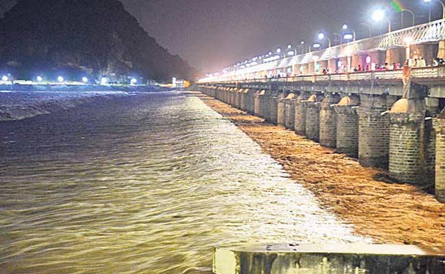 Heavy Water InFlow In Krishna River - Sakshi