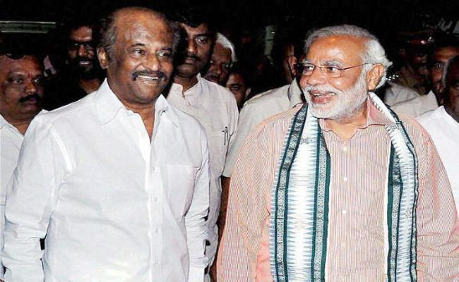 Rajinikanth Following to Narendra Modi in Political Way - Sakshi