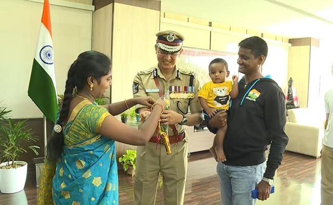 AP DGP Gowtham Sawang Wishes Women Over Raksha Bhandhan - Sakshi
