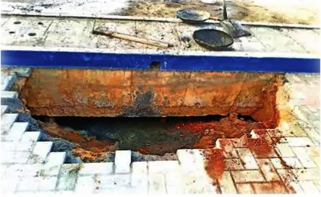 Harbour Ground Collapse After 50days Tamil Nadu CM Innagurate - Sakshi