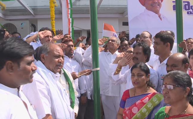 Independence Day Celebrations At YSRCP Office In AP And Telangana - Sakshi