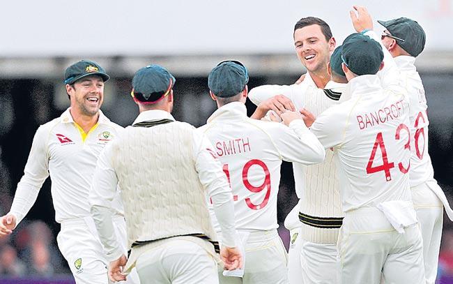England collapse to 258 all out Australia take second Test ascendancy - Sakshi