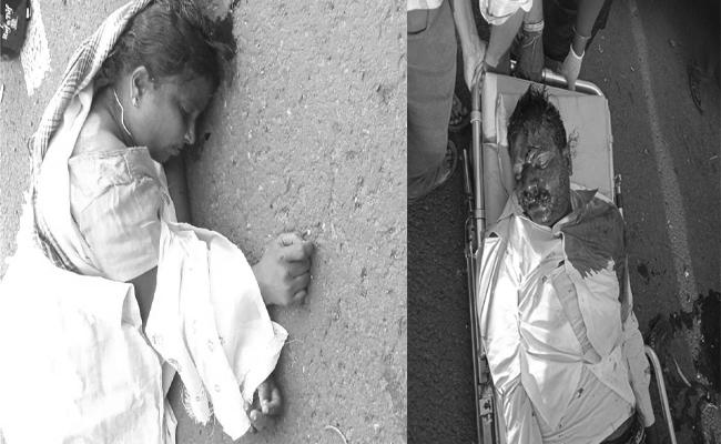 Wife And Husband Died In Road Accident In West Godavari - Sakshi