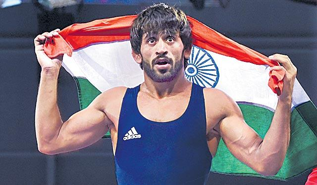 Wrestler Bajrang Punia nominated for Khel Ratna award - Sakshi