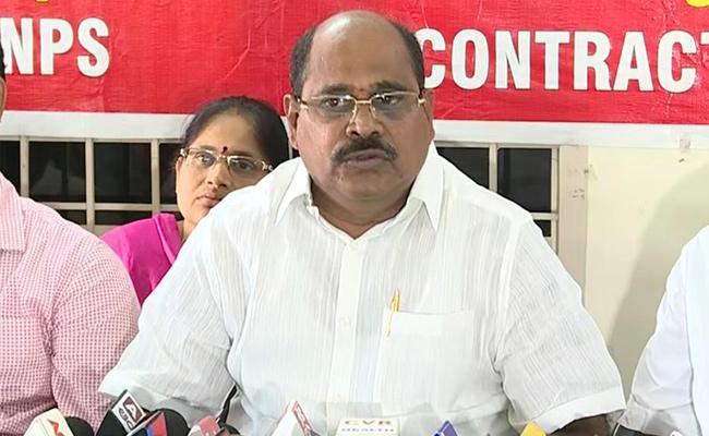 AP NGO President Criticize On Giving Identity To AP Government Employees Union In Vijayawada - Sakshi