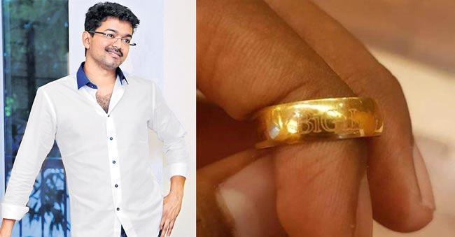 Vijay Gifts Customised Bigil Gold Rings To Crew Members On The last day - Sakshi