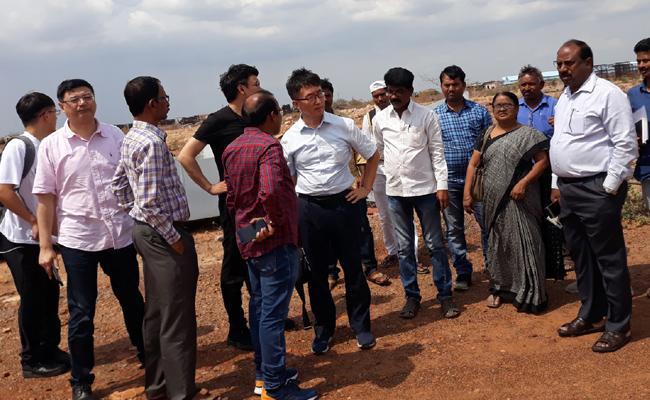 China Officials Visits Steel Plant In Kadapa - Sakshi