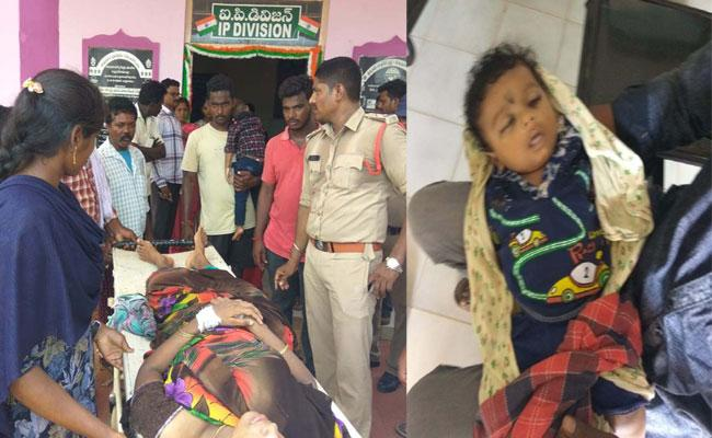 Woman Commit Suicide Attempt With Her Mother And Two Sons In West Godavari - Sakshi