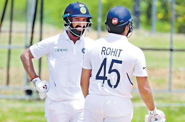Cheteshwar Pujara, Rohit Sharma hit the nets as India gear up  - Sakshi