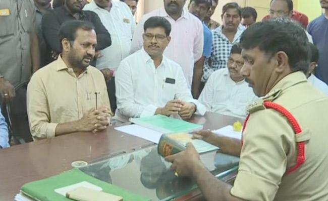 MLA Alla Ramakrishna Reddy Complaints Over Social Media Posts - Sakshi