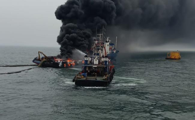 Tug Boat Fire Injured Person Passing To Mumbai - Sakshi
