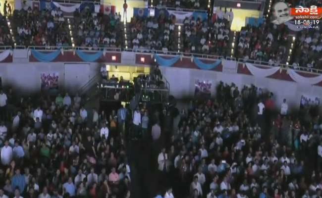 AP CM YS Jagan Grand welcome By Telugu NRIs In Dallas - Sakshi