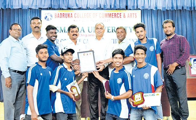 Bhavan College Wins Carrom Title - Sakshi