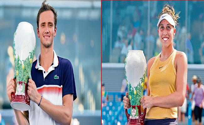Cincinnati Open Winners Madison Keys And Medvedev - Sakshi