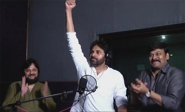 Pawan Kalyan lending his voice to Sye Raa Narasimha Reddy - Sakshi