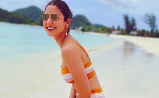 Anushka Sharma Share Bikini Photo In Instagram - Sakshi