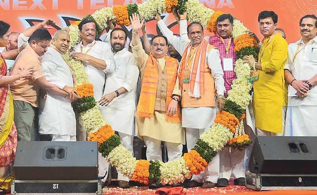 BJP Will Sweep Telangana In 2023 Election JP Nadda Says In Hyderabad Public Meeting - Sakshi
