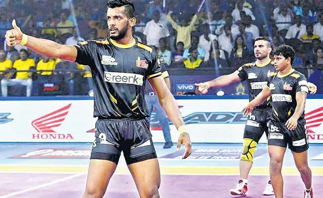 Telugu Titans Won On Haryana Steelers In Pro Kabaddi - Sakshi