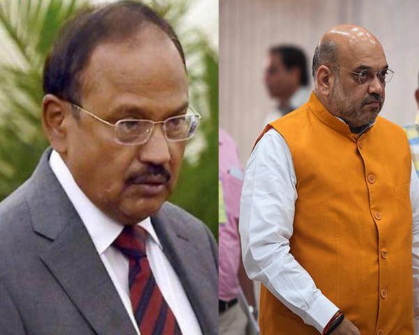 NSA Ajit Doval Meets Amit Shah - Sakshi