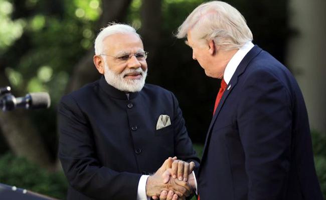PM Modi Calls Up Donald Trump - Sakshi