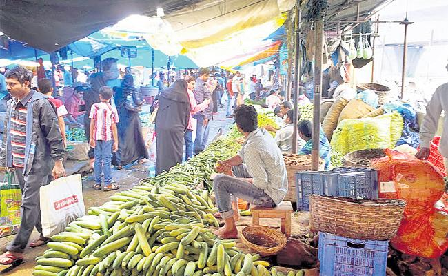 Vegetable Markets Shortage in Hyderabad - Sakshi